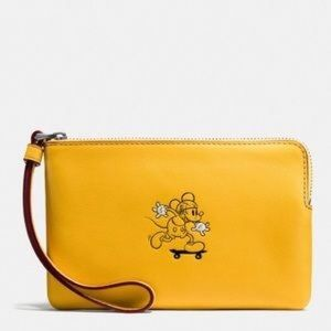 NWT Coach RARE Mickey Mouse Wristlet!! FIRM